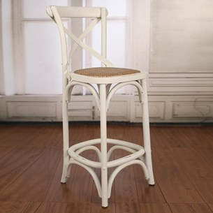 Stool Antique White - Breakfast or Bar Height 'Charmont'