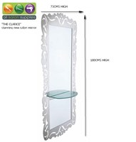 """""""Clarice"""" Single sided mirror,  Stainless steel, Stunning new highest quality mirror, innovative new design"""
