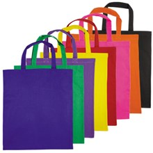 Short Double Handle Coloured Cotton Bags