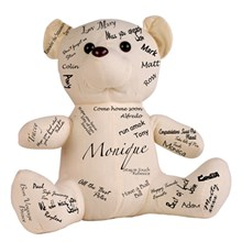 Calico Sitting Signature/Autograph Bear