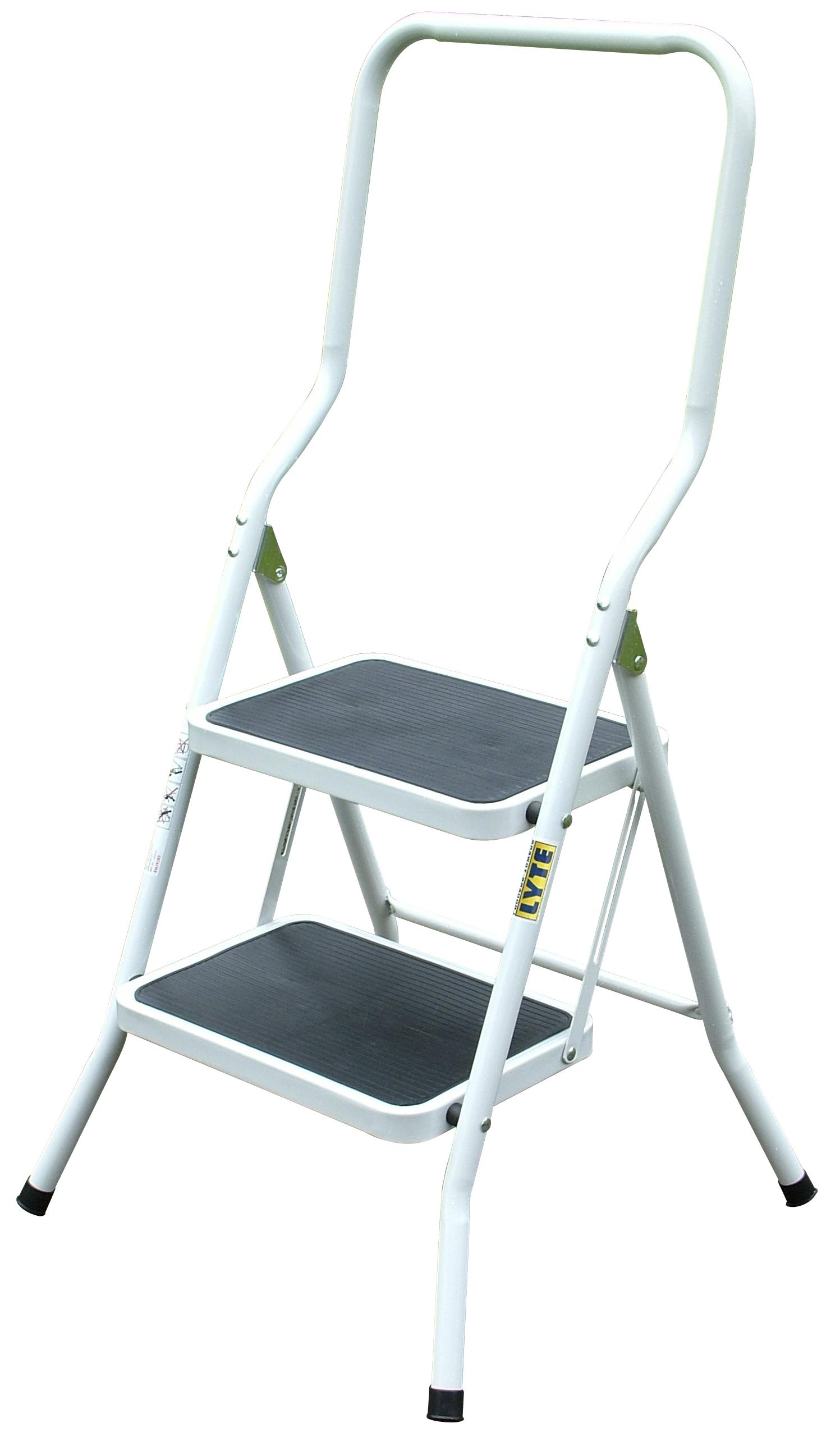 Lyte Lightweight Squared 2 Tread Metal Step Stool