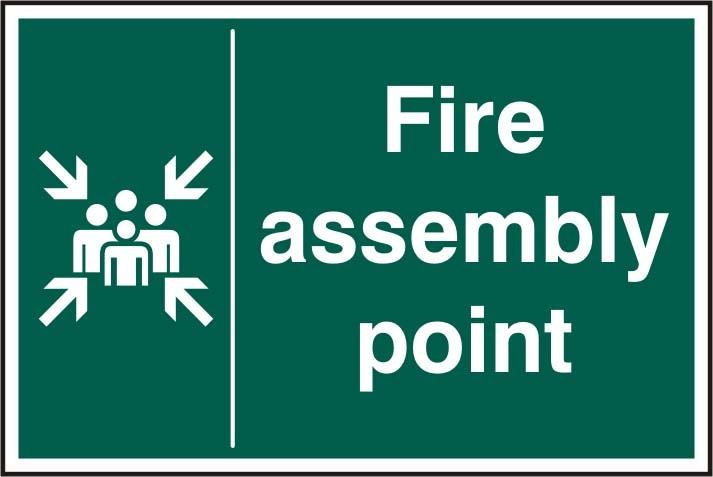 Fire Assembly Point Large 600 X 400hmm Rigid Plastic