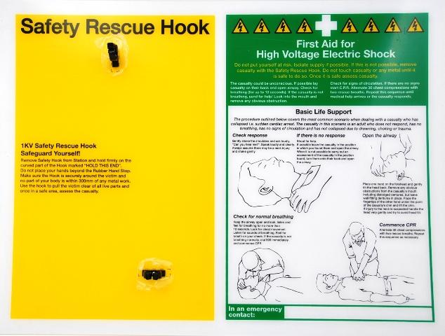 Electrical Safety Rescue Hook Wall Station Bd 509050