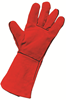 Standard Leather Gauntlet - Red - Conforms to EN388 (4133) & EN407 (413X4X) - Pair - [HT-20923]