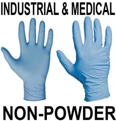 Ansell 92-665 Touch N Tuff LONG Blue Powder Free Disposable Gloves - Conforms to EN374 Complex Design - Box of 100 - AN-92-665