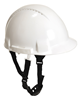 Portwest - Mid Peak 3cm Climbing Construction White Safety Helmet With Y Chin Strap - Conforms to EN397 - [PW-PW97-W]