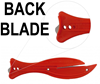 F600 FISH Red Safety Knife with Tape Cutter - Back Blade - Ultimate Value - Ideal for Light Warehouse Use - [KC-F600CT]