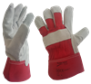 Red Rigger Gloves - Single Palm - Conforms to EN 388 CAT II (4144) - [HT-REDRIGGER]