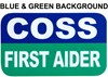 COSS First Aider Combination Insert Card for Professional Armbands - [IH-AB-CFA]