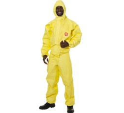 Dupont Tyvek - Tychem C Standard Hooded Coverall - EN 14126 Category 3, Type 3,4,5,6, EN 1149-1:1995 Type 3B. EN1073-2 - DU-382113