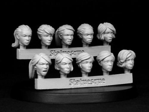 SMA301 Heroic Scale Female Heads available again!