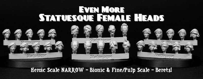 Heroic Scale NARROW - Bionic and Fine/Pulp Scale - Berets on sale now!