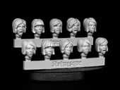 SMA357 Heroic Scale Female Heads NARROW - Angry Bobs