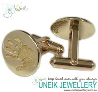 9ct Gold Cufflinks with Handprints or Footprints