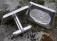 Fingerprint Cufflinks Sterling Silver