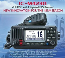 ICOM IC-M423G VHF Radio - BLACK