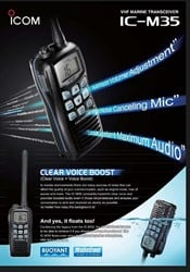 ICOM M35 FLOATING Hand Held VHF Radio