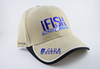 IFISH Cap Tackle World With Sponsor Logos Beige