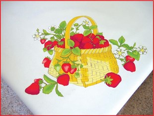 Strawberry Patch Table Cloth