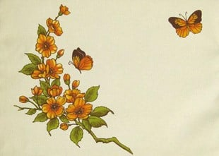 Orange Blossom & Butterflies Placemat