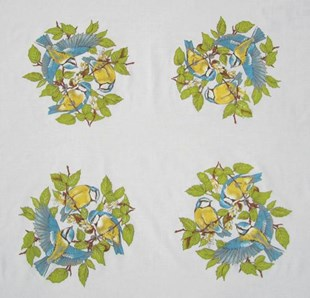 Blue Birds Coffee Cloth