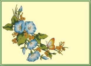 Blue Morning Glory Placemat