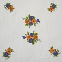 Garden Pansies Coffee Cloth