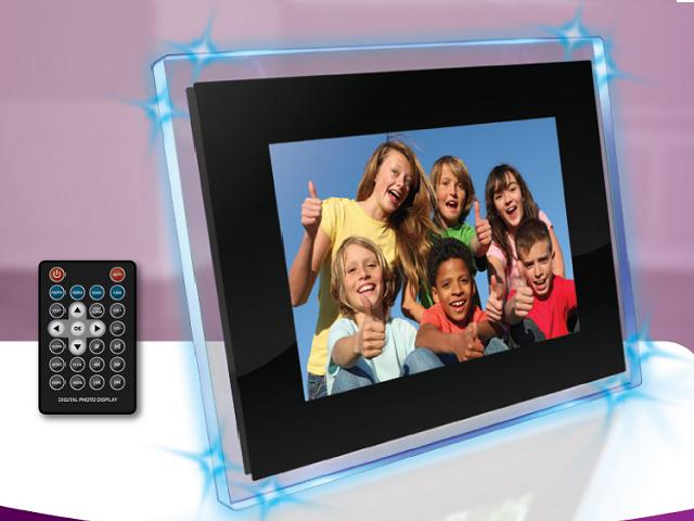 mediastreet emotion 104 inch ambient blue digital picture frame - Electronic Picture Frames