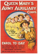 QUEEN MARY'S ARMY AUXILIARY CORPS - First World War Propaganda Poster