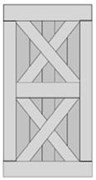 Double X-Brace Barn Door BD008-1520