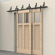 2.4M Bypass Sliding Barn Door system B02