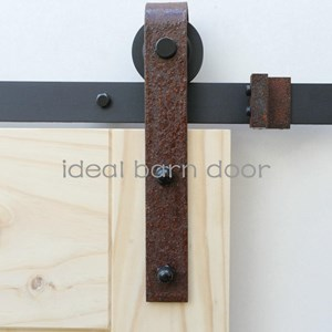 Weathered Rust 2.4M  Barn Door hardware B02WR