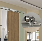 2M Top mounted Barn Door Hardware S21