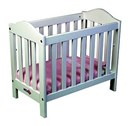 Micki Wooden Toy Cot - White Dolls Cot