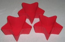 Silicone Star Cupcake Moulds 3 Pack