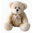 CREAGH Cream 40cm Teddy Bear with Ribbon - LAST ONE