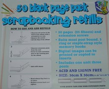 50 Page Pack Scrapbooking Refills