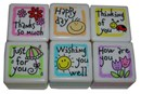Good Wishes Self Inking Stamps - Set of 6