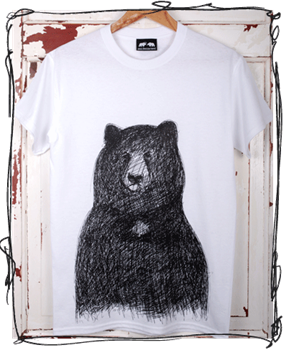 Big Bear T-Shirt - White/Charcoal/Blue/Orange