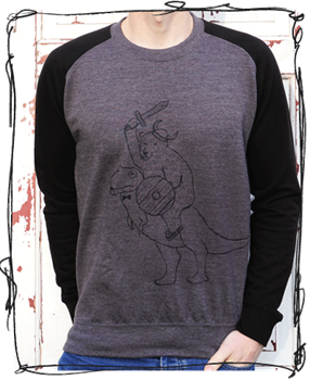 'Warrior' Black Sleeve Jumper
