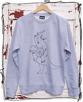 'Warrior' Jumper - Grey, Cranberry, Hawaii Blue or Black Sleeves