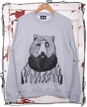 'Aye Aye Skipper' Jumper - Grey or Hawaii Blue