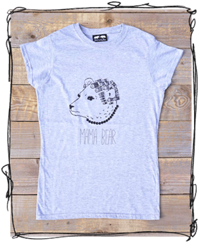 'Mama Bear' - Grey T-Shirt