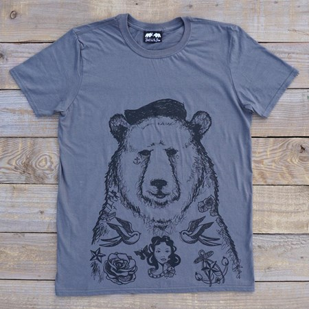 'Old Jerry' T-Shirt - Charcoal/Grey/White