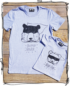 Two Bears T-Shirt Set - Super Bear & Side Cub!