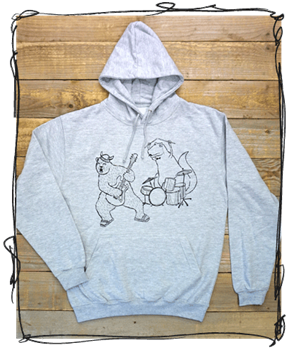 'Rocking Out' - Grey Hoodie