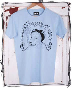 Headscarf Bear Light Blue T-Shirt