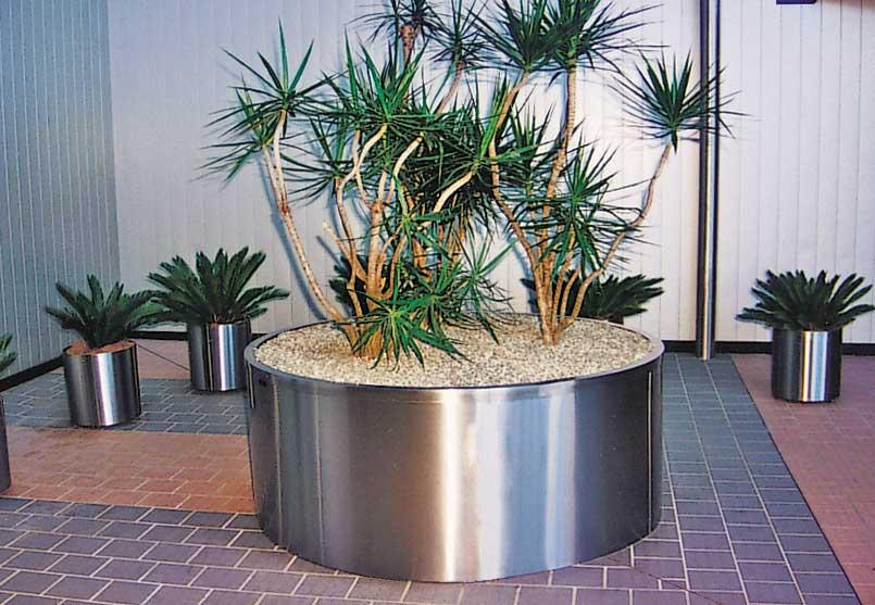 Stainless Steel Plant Pots Furniture For Public Spaces