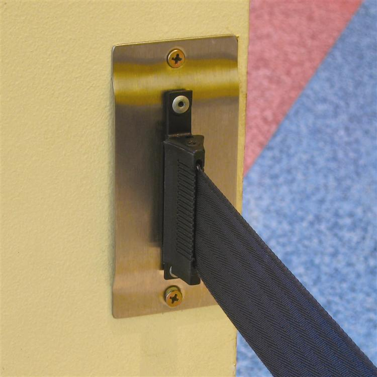 Tension Barrier Wall Mount Clips Furniture For Public