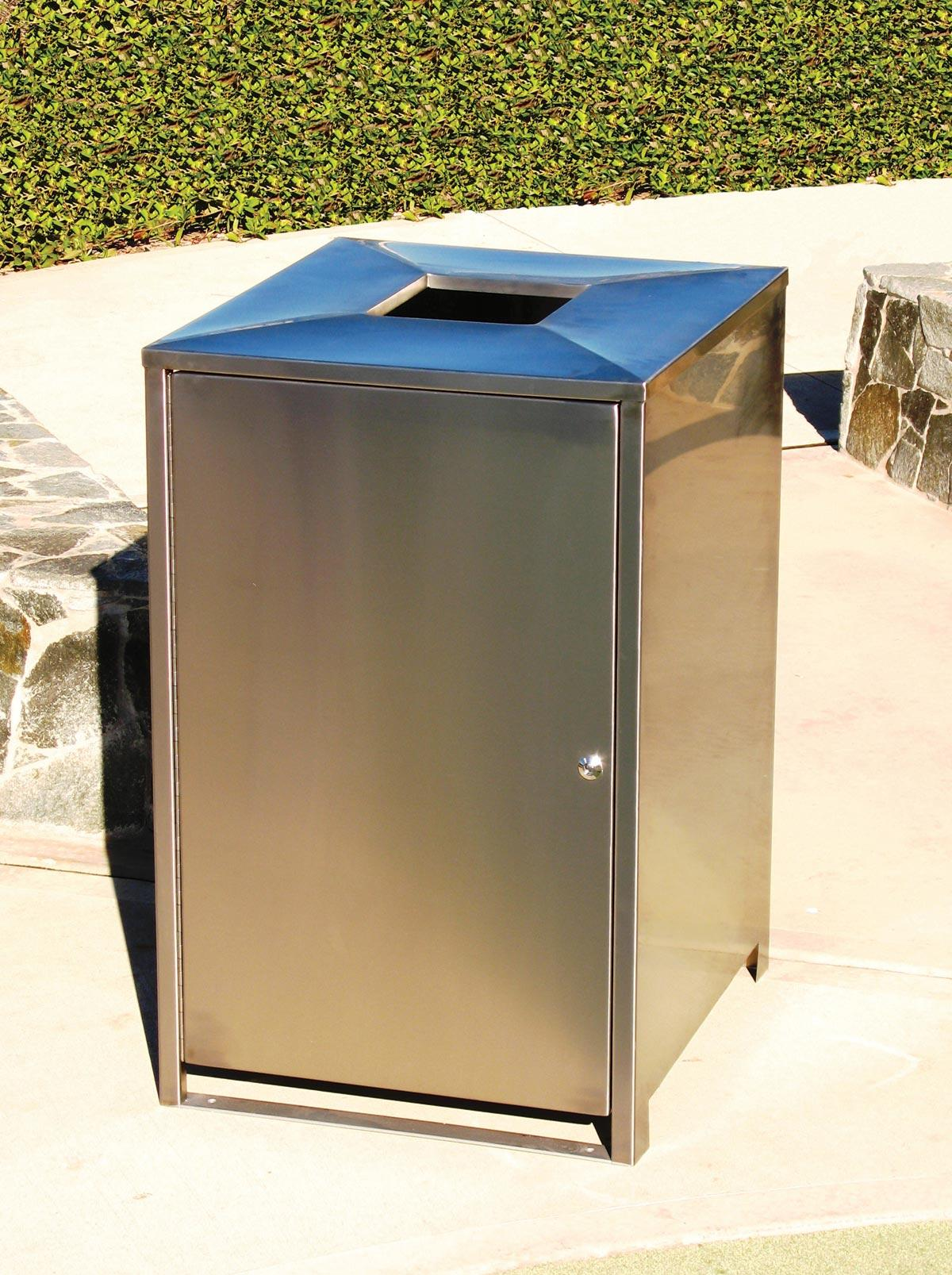 Sm1050 Bin Surround Stainless Steel Furniture For Public